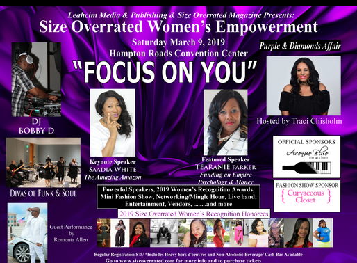 Tag a Friend Bring a Friend Size Overrated Women's Empowerment Event