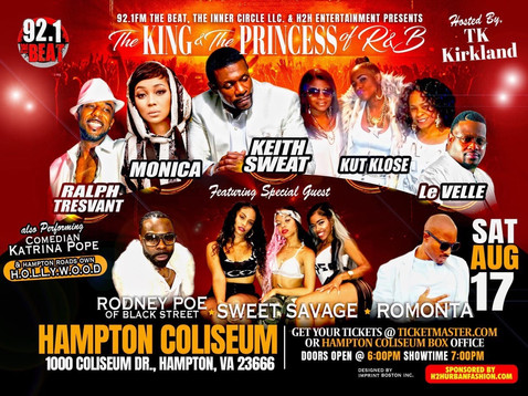 The King & Princess of R&B Concert in Hampton is Going Down Saturday!!!