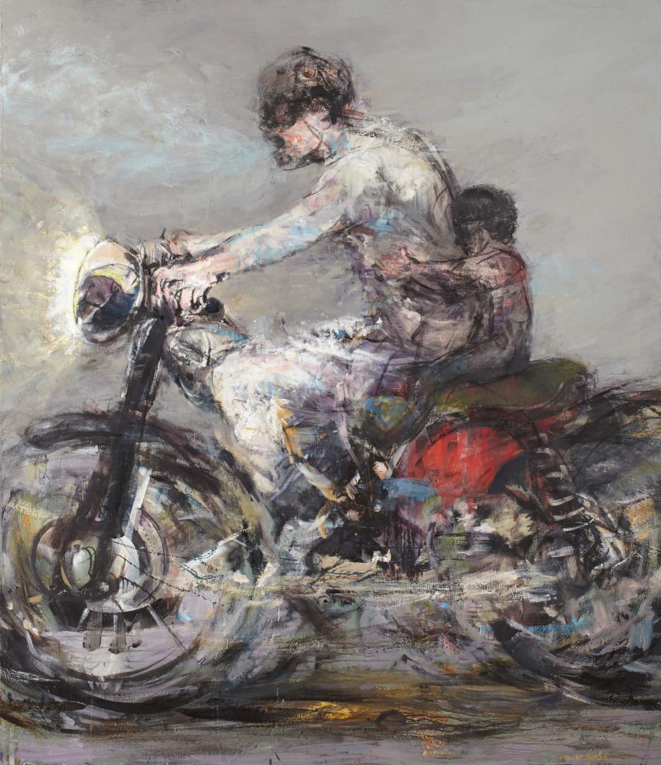 Riders, 204 x 176 cm