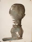 Vase canope, 40 x 30 cm