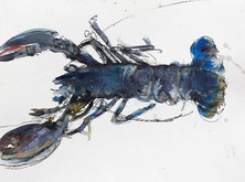 """""""Homard bleu"""" 30 x40 cm"""