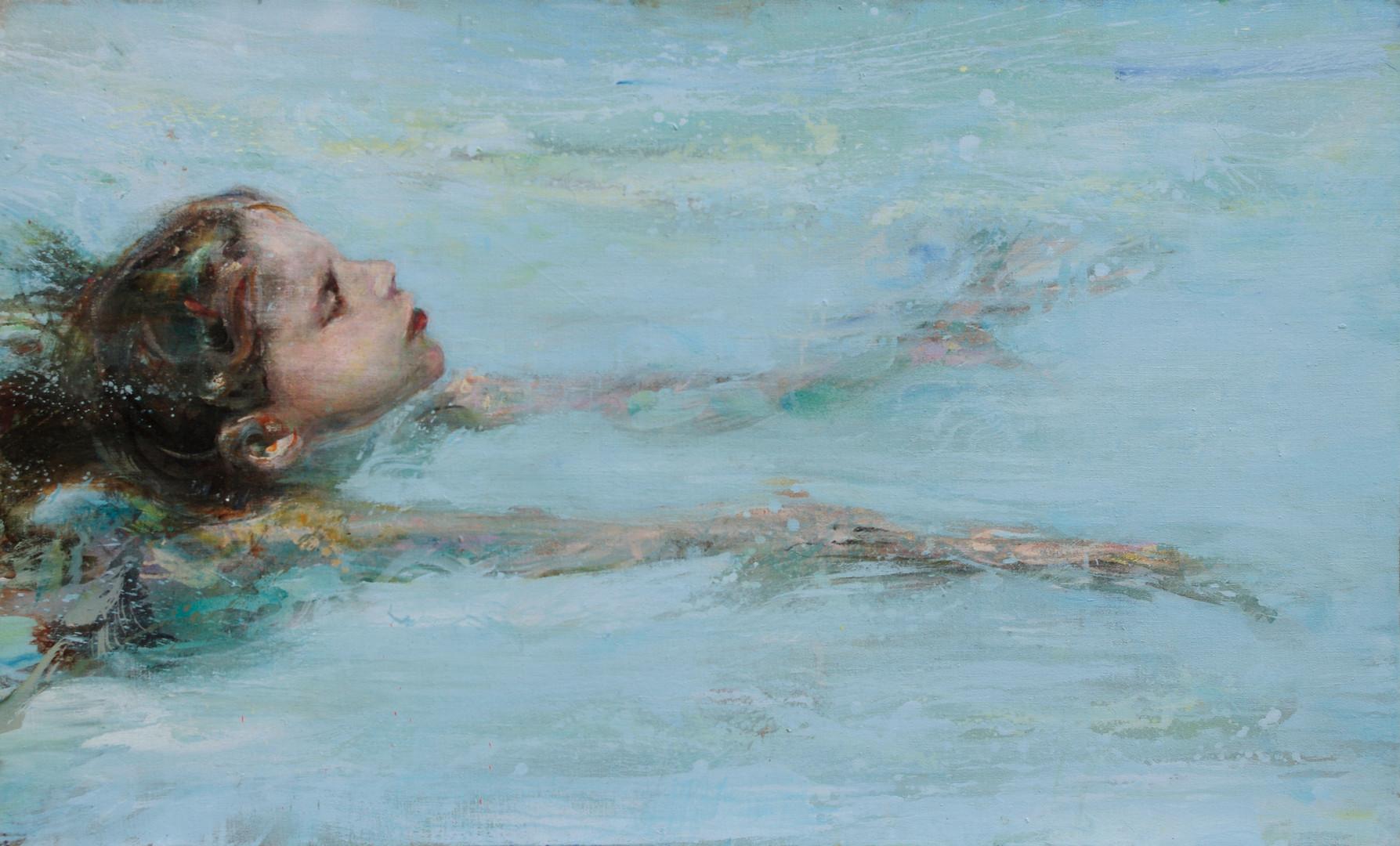 La brasse,127 x 77 cm