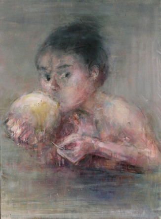 La baudruche, 100 x 73 cm