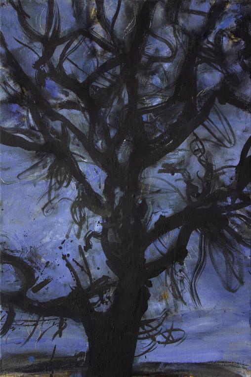 """""""Noyer, crépuscule"""" 81 x 54 cm"""
