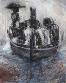 """La Barque""200 x 160 cm"