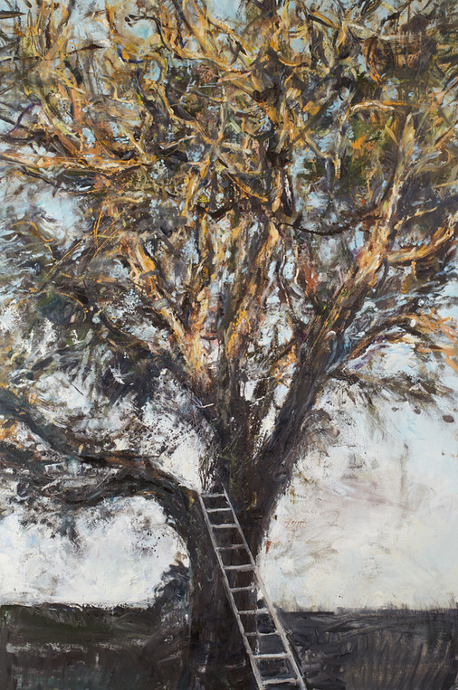 """""""Noyer, lierre mort, échelle"""", 195 x 130 cm"""