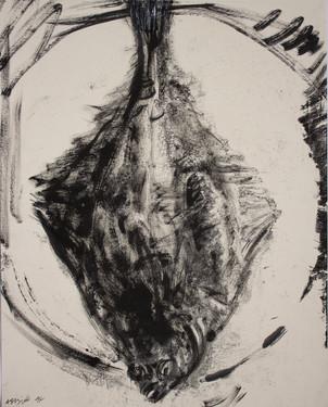 Monotype, carrelet, 50 x 40 cm, 2018(3).