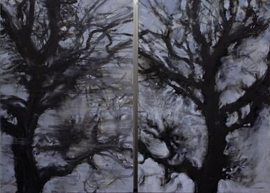 """""""Diptyque aux noyers"""" 130 x 178 cm"""