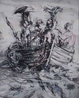 """La nef, Etude 4"" 50 x 40 cm"