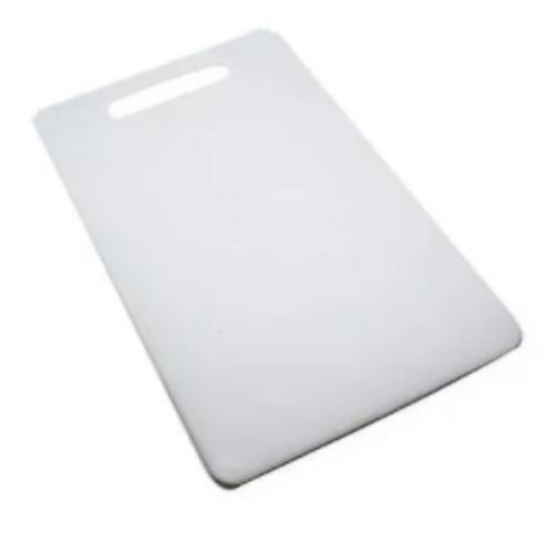Tábua de Plástico Branca Retangular 20cm x 33cm x 0,5cm - 1 Unidade