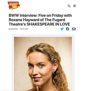 Broadway World - Roxane Hayward