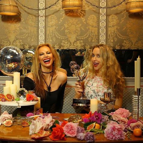 Roxane Hayward with Miss Universe Margar