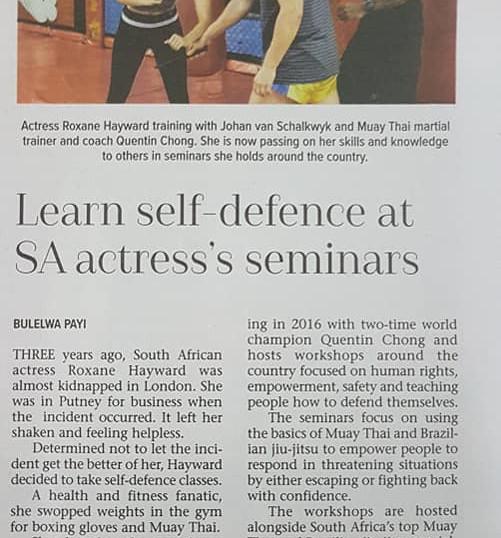 Self Defeense Cape Times