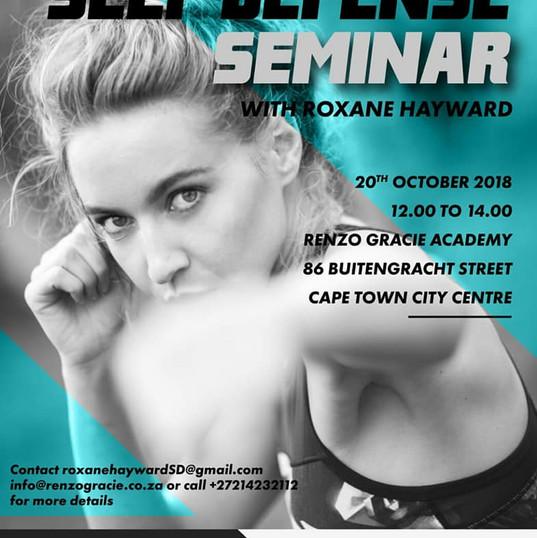 Roxane Hayward Self Defense Seminar