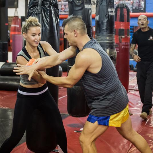 Roxane Hayward and Quentin Chong Self Defense Seminar