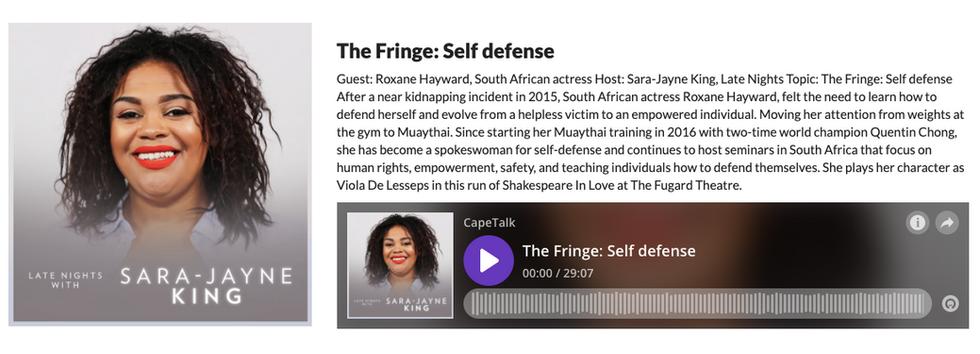 Sara-Jayne King Interviews Roxane Haywar