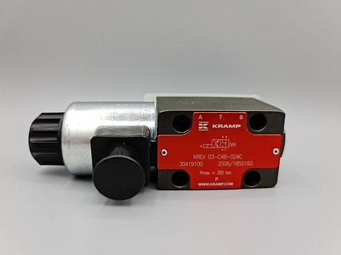 Control valve 4/3 NG6 80l/min 24VDC