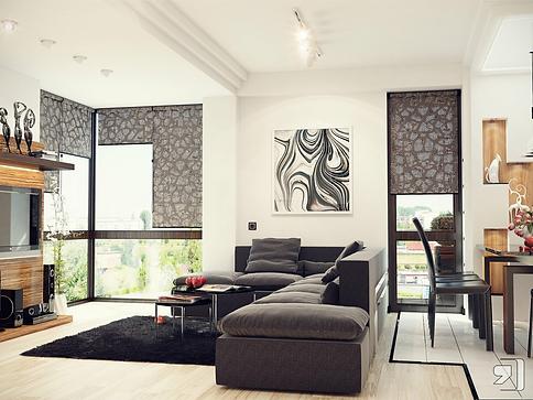 заказать дизайн проект интерьера дома в стиле экспрессионизм