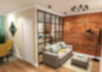 Дизайн проект однокомнатной квартиры в стиле лофт