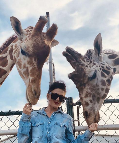 Crystal Landkas and the Rye Road Giraffes