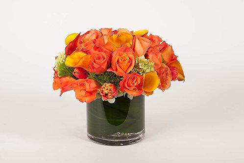 Orange Roses, Calla Lilies & Tulips
