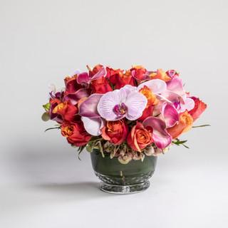 Short pink arrangement