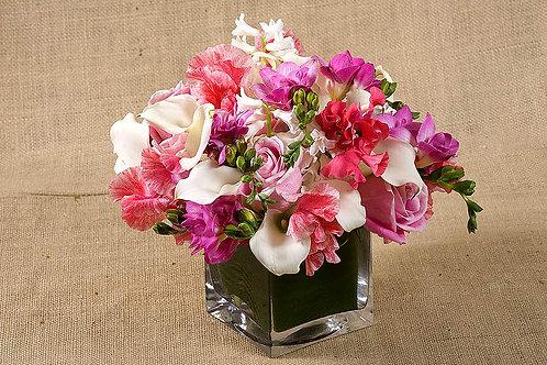 Pink Sweet Peas, Roses & Hyacinth