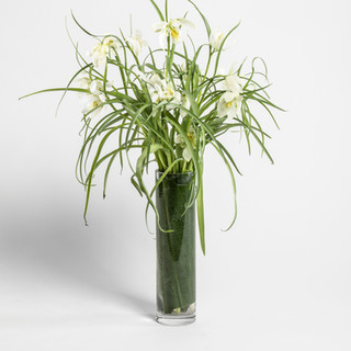 Tall white Fritillaria arrangement
