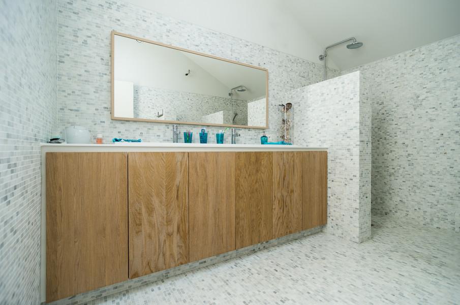 Moderne badkamer in mozaïek - Foto door Dirk De Cubber