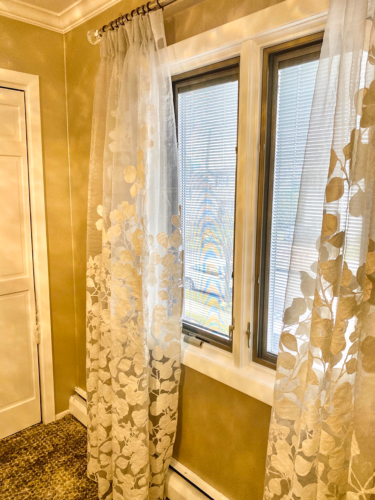 Modern Guest Bedroom Window Treatments