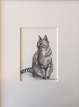 Prim Pet   Matted 13x16 Ink.    $60.jpg