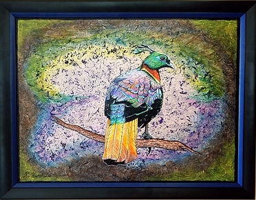 Acrylic 21by27 inches Himalayan monal $4