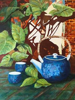 Tea for Two.   24x30 Acrylic   $250.jpg