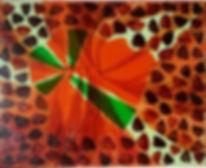 Acrylic 16 x 20  Tangerine explosion, $7
