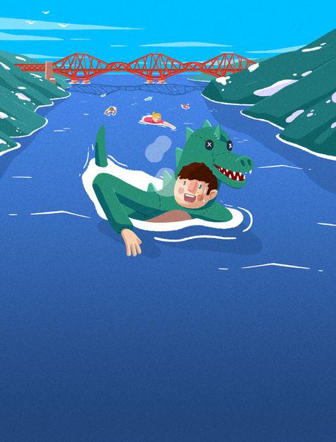 Forth Bridge Swimming Editorial