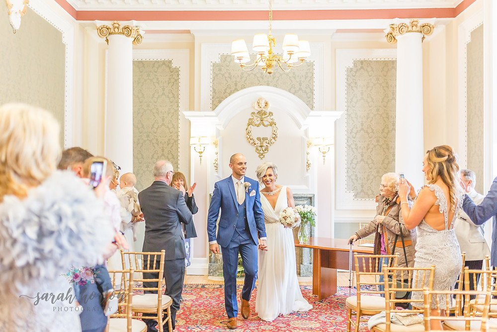 Small Cheshire Wedding Photography - Mayor's Reception Room Crewe Registry