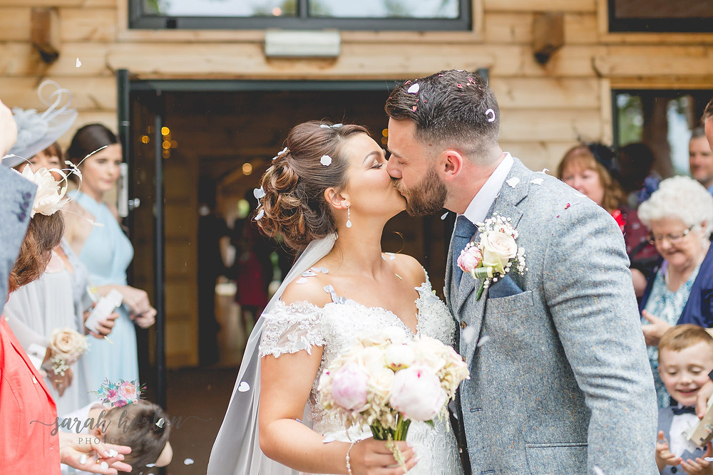 cheshire wedding photography at styal lodge confetti