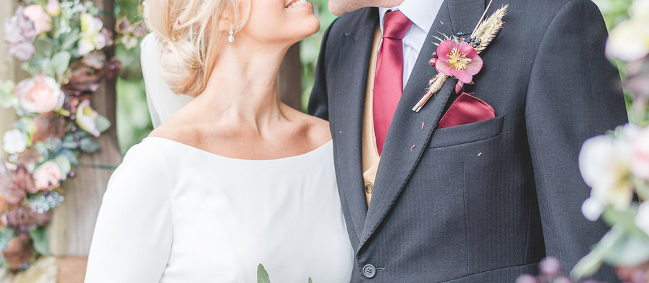 A late winter wedding at Pendrell Hall with all the florals