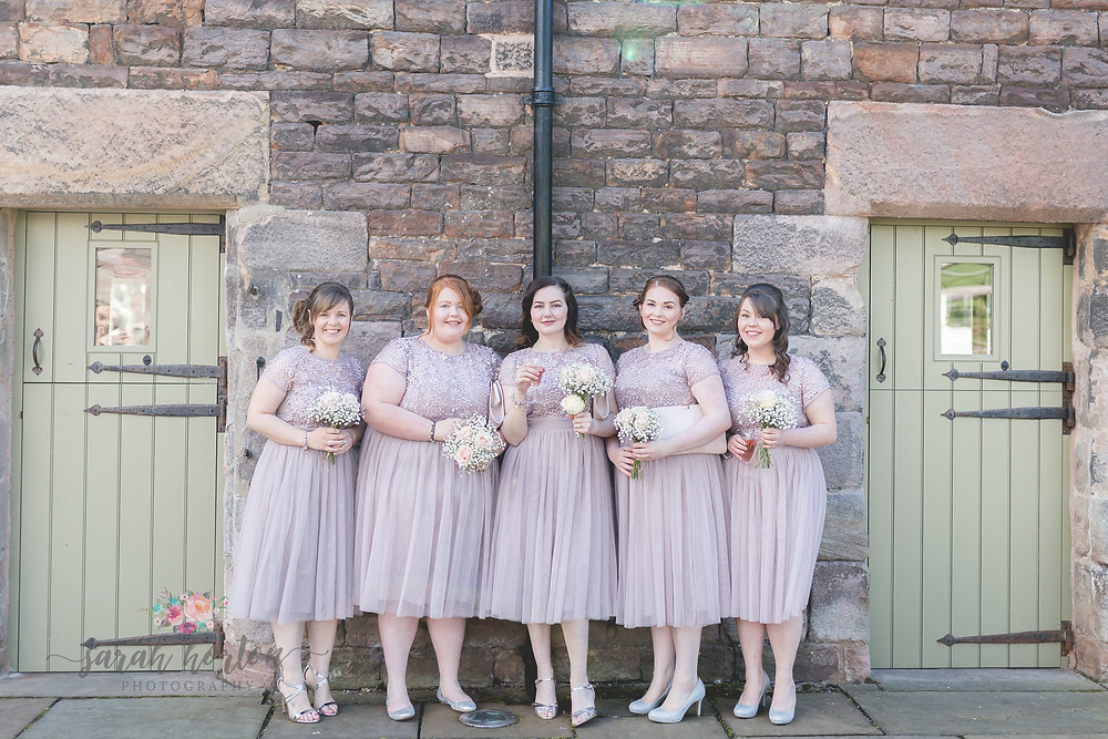 the ashes wedding photography cheshire bridesmaids