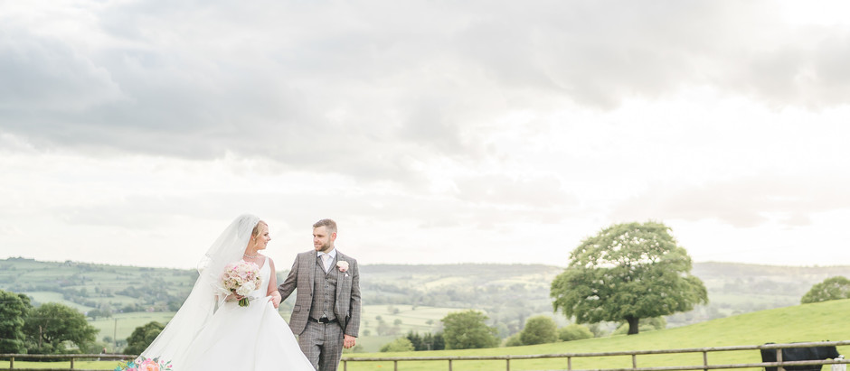 A fairytale pink wedding at Heaton House Farm