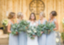 Bridesmaids at Alcumlow Wedding Barn