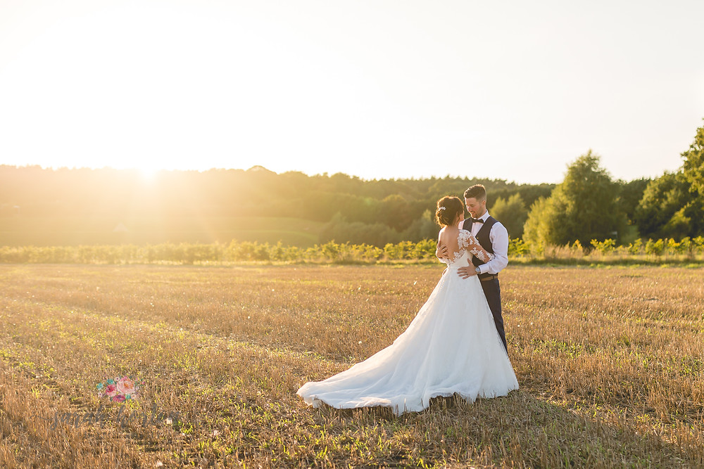 award winning Sunset portraits at delamere events cheshire wedding photography