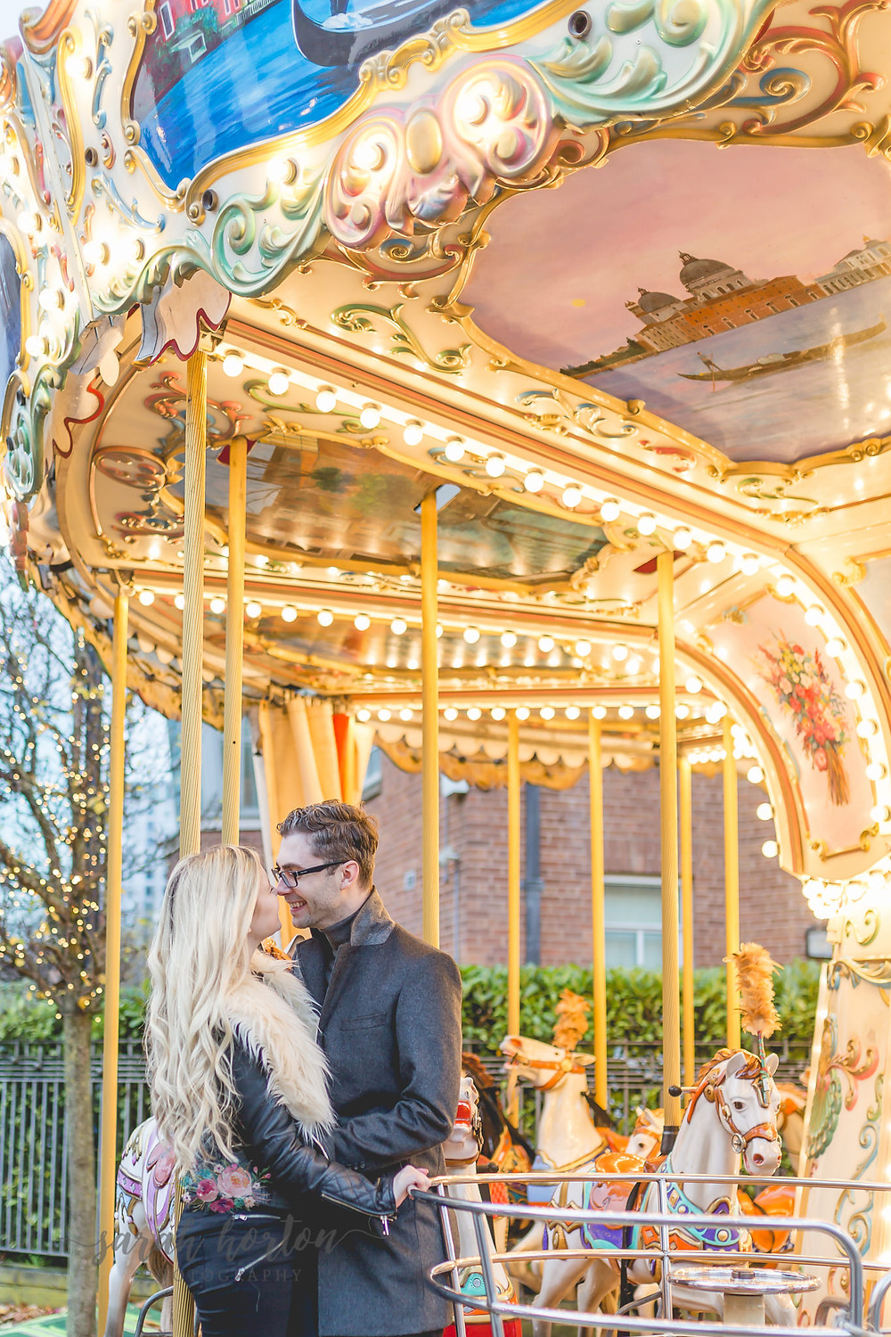 engagement photography at manchester christmas markets