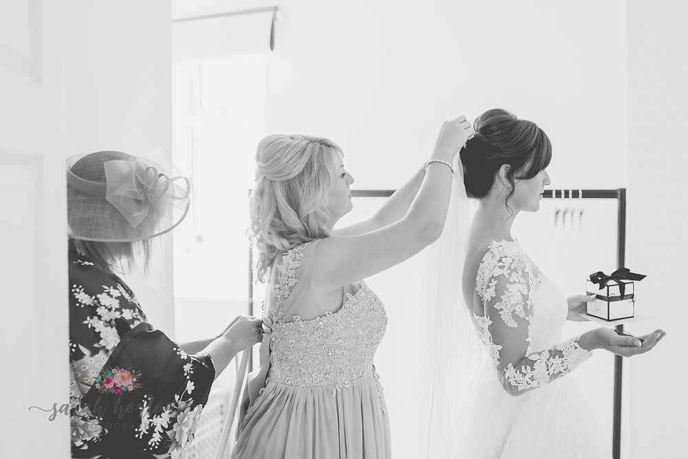 bridal prep by cheshire wedding photographer