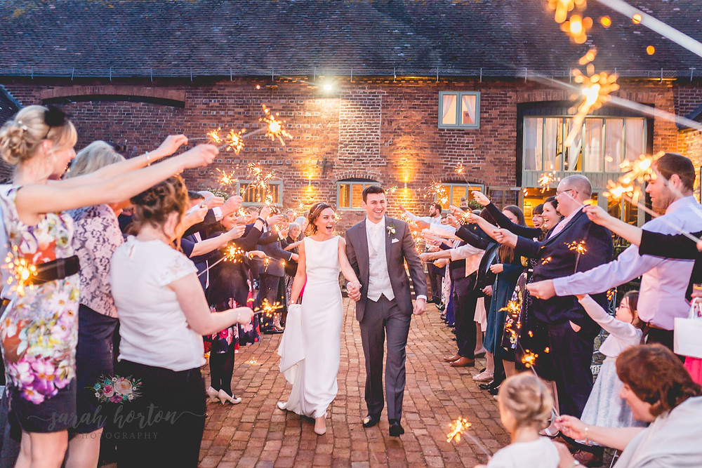 Sparkler Wedding Photography at Curradine Barns West Midlands