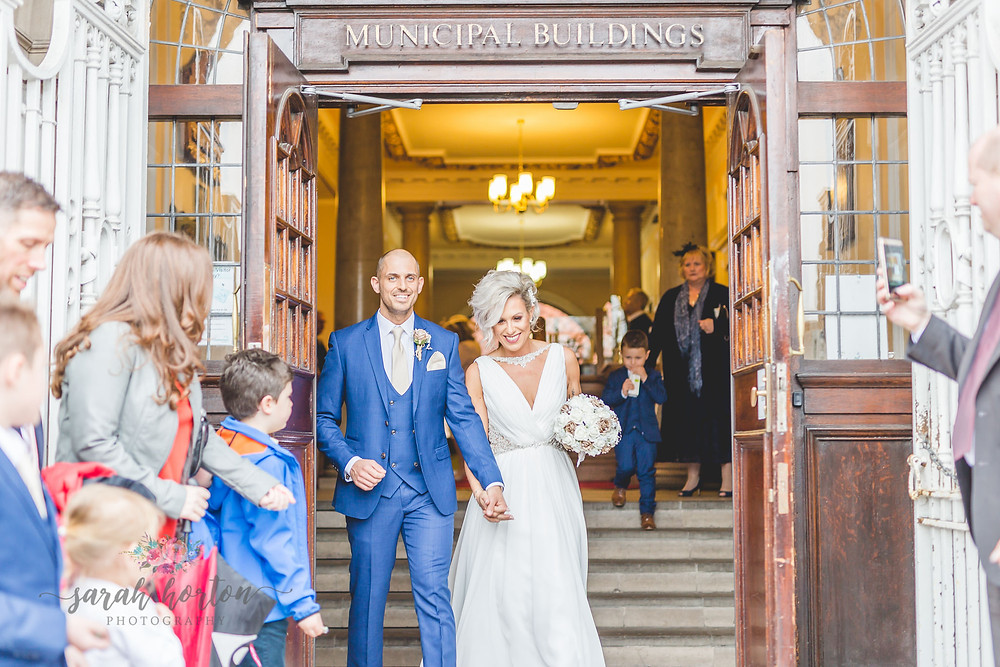Small Wedding At Crewe Municipal Buildings by Cheshire Wedding Photographer