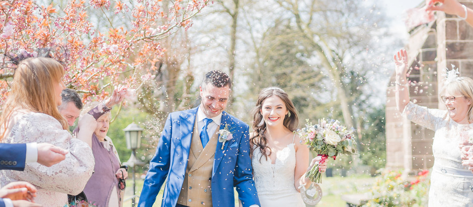 A colourful spring wedding in Nantwich, Cheshire