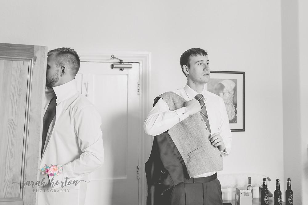 Groom Prep Bodnant Welsh Foods Wedding Photography