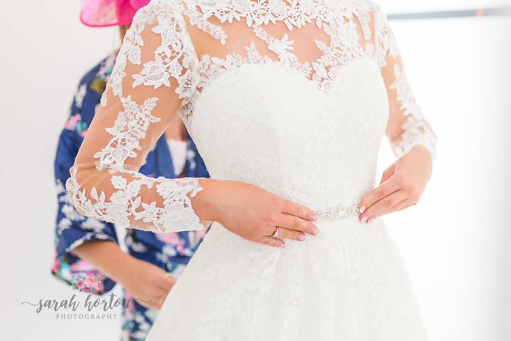 light and airy bridal prep by cheshire wedding photographer