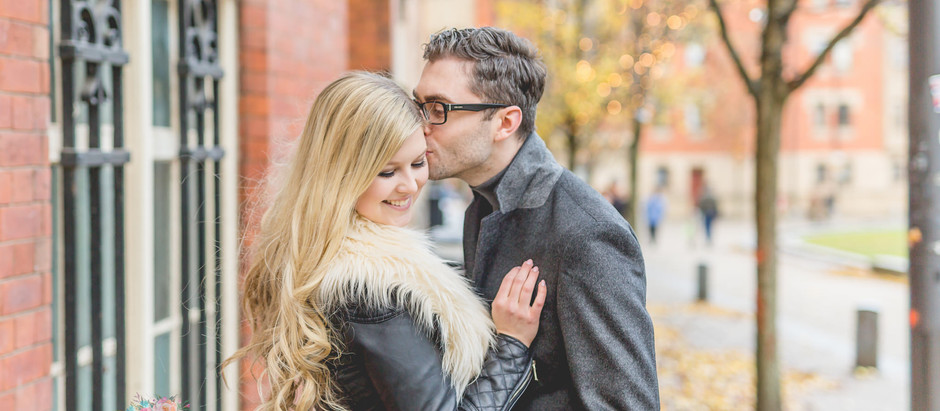 A fun engagement session in Manchester Christmas Markets